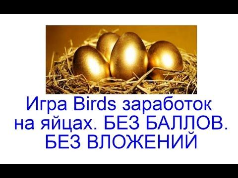 заработок без вложений на яйцах