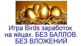 Игра Birds заработок на яйцах. БЕЗ БАЛЛОВ  БЕЗ ВЛОЖЕНИЙ