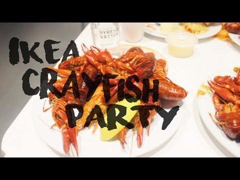 VLOG 7 | IKEA CRAYFISH PARTY | How To Eat Crayfish