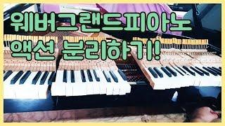 웨버 그랜드 피아노 입고! 중고피아노 베딩 과정~
