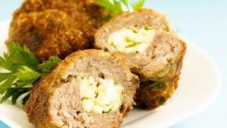 Домашние видео-рецепты - мясные зразы с яйцом и зеленым луком в мультиварке