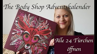 Unpacking The Body Shop Adventskalender 2018 85€|mittlerer Kalender|24 Türen öffnen|Tiffys Welt