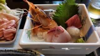 TOWAピュアコテージの夕食。いつもの和食処、樅(もみ)で食べました出...