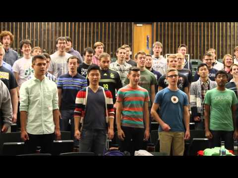 Penn State Glee Club Rehearsal - Fight Song Clip