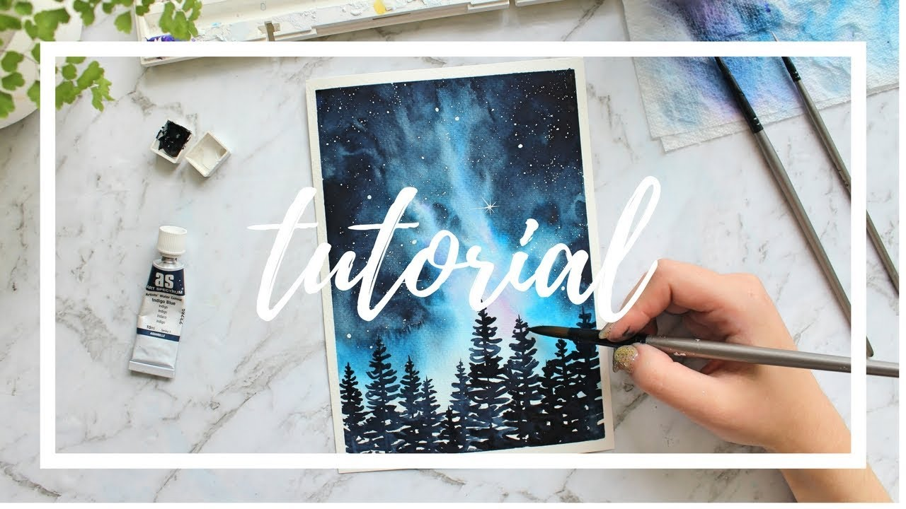 STEP BY STEP Galaxy Tutorial: Painting With Watercolor ...