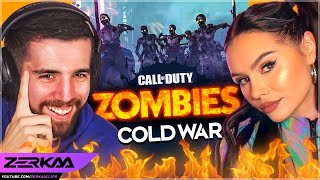 CARRYING TALIA MAR ON COLD WAR ZOMBIES! (Call Of Duty: Black Ops Cold War)