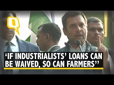 Rahul Gandhi slams PM Modi at the Kisan Mukti March in Delhi | The Quint