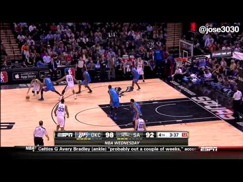 Thunder @ Spurs 1222014  Tribe Called Quest Oh My God over PA System