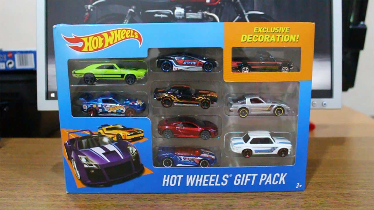 Hot Wheels Gift Pack 9 mazda rx7 bmw 2002 acura nsx ford mustang ...