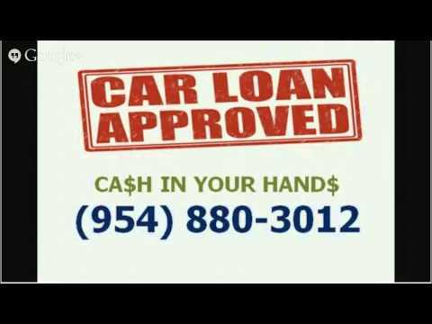 No credit car title loan Pembroke Pines 33028 - CALL 954-880-3012