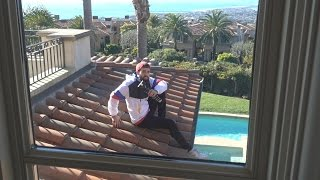 LOCKED OUT ON THE FAZE HOUSE ROOF