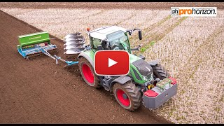 Plough, Drill and Press in One-Pass - Köckerling Minimat press drill, Fendt 724 & Lemken EurOpal 8