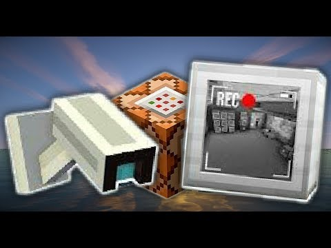 HOW TO MAKE A WORKING CAMERA WITH COMMAND BLOCK MINECRAFT POCKET EDITION.