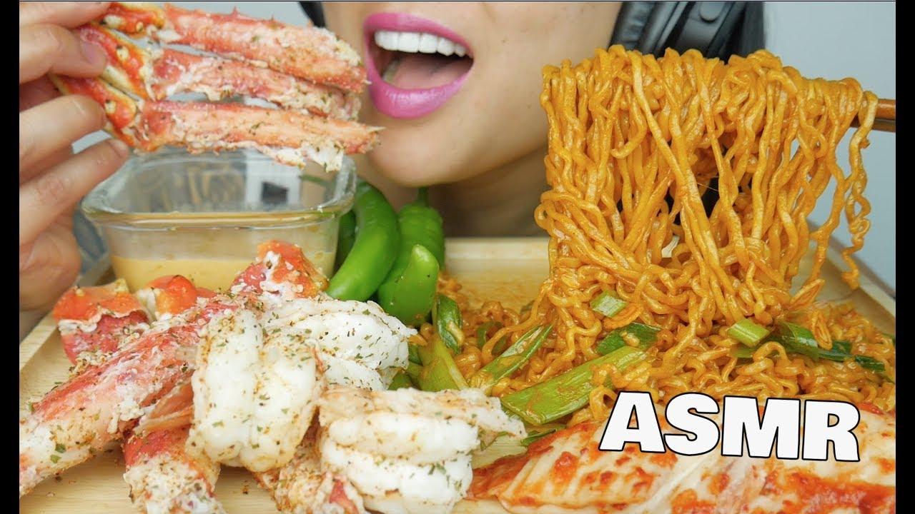 Asmr Spicy Noodles Mini Seafood Boil King Crab Cheese Sauce Eating Sound No Talking Sas Asmr Youtube Whole alaskan king crab with her famous smackalicious sauce. asmr spicy noodles mini seafood boil king crab cheese sauce eating sound no talking sas asmr