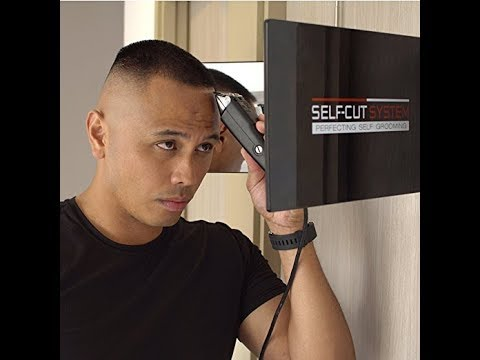 SELF,CUT SYSTEM Travel Version , Three Way Mirror for Self Hair Cutting  with Height Adjustable