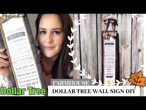 DOLLAR TREE WALL SIGN DIY FARMHOUSE | dollar tree fall DiY 2019 | fall decor diy