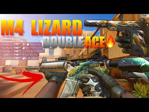 Standoff 2  M4 Lizard Double ACE Gameplay‼️