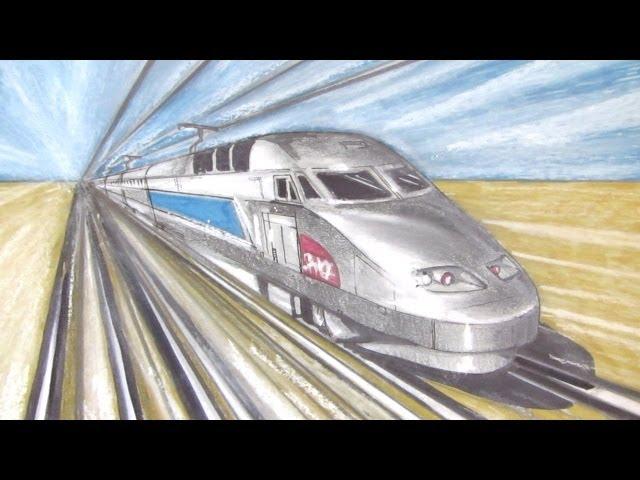 Gambar Drawing A Train Cari Gambar Download