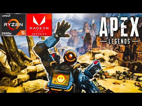 Apex Legends Ryzen 5 2500u Vega 8 with 100% fan speed 45w cTDP - YouTube