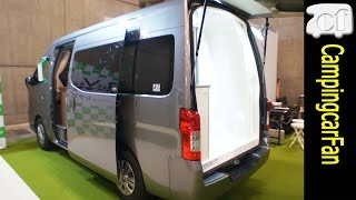 【キャラバンイゾラ】シャワールームがあるふたり旅用キャラバンバンコンキャンピングカー Japanese campervan campingcar