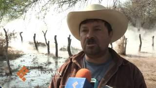 Fracasa excavación de pozo en Copándaro; aguas termales arrasan cultivo thumbnail