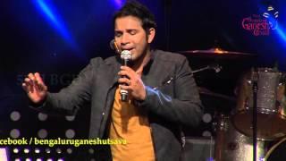 """""""Jiya teri jiya meri"""" song by Karthik performing live @ 53rd Bengaluru Ganesh Utsava"""