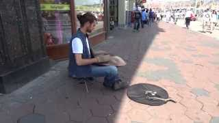 Weird Instrument Played on the Streets of Amsterdam