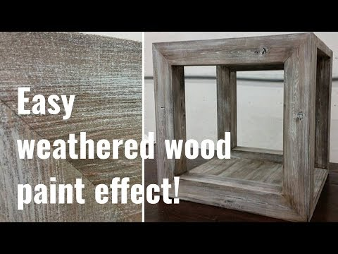 Simple to follow barnwood paint effect tutorial!