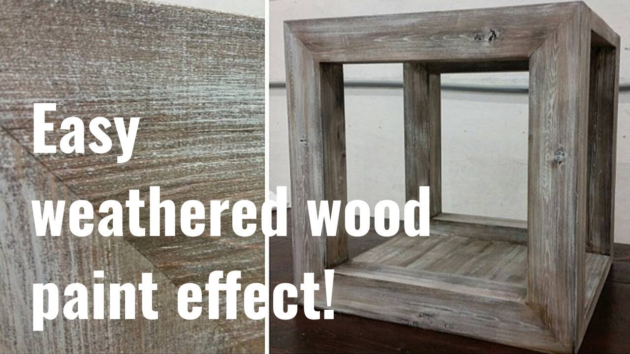 simple to follow barnwood paint effect tutorial youtube. Black Bedroom Furniture Sets. Home Design Ideas