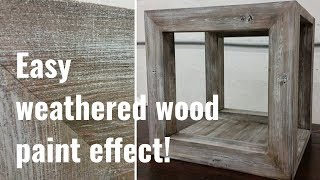 Easy weathered barnwood paint effect