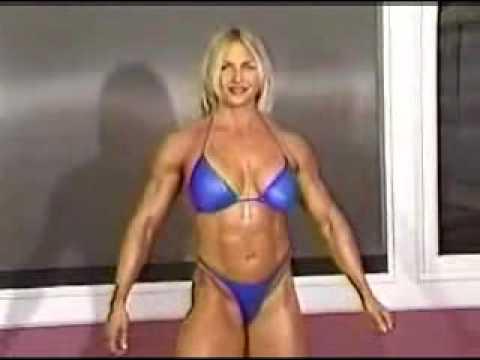 VĐV thể hình nữ khoe cơ bắp - YouPhim.flv