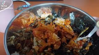 냉장고 털이 비빔밥