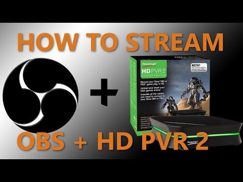 How To Setup The Hauppauge HD PVR 2 Gaming Edition in OBS
