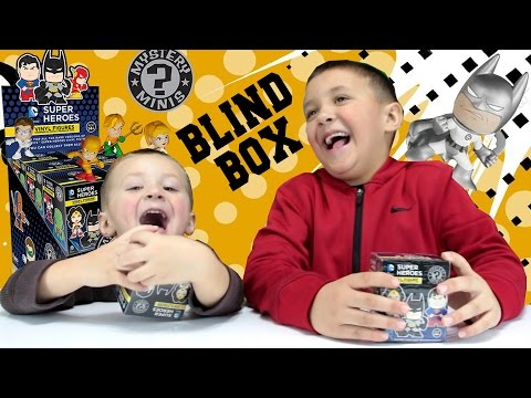 Thumbnail: DC COMICS Super Heroes Blind Box Opening w/ Mike & Chase! Funko Mystery Minis FGTEEV Toy Fun!