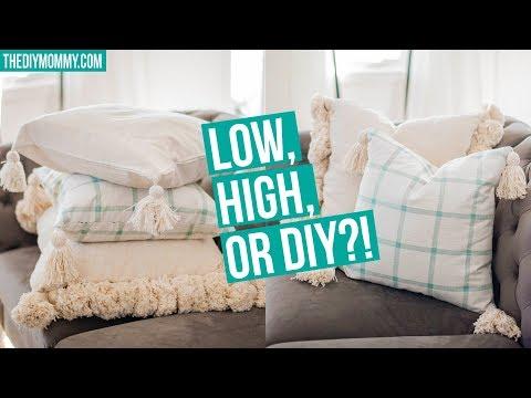 LOW, HIGH Or DIY?! 💖 TASSEL PILLOW
