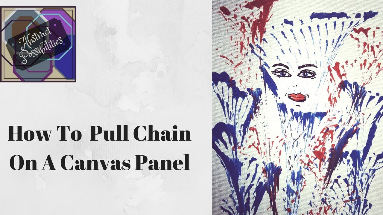 How To Chain Pull Acrylic Painting