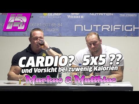 Markus & Matthias über Cardio, Trainingssysteme und Kalorien
