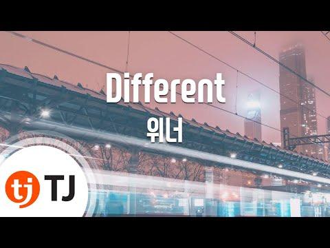Different_Winner 위너_TJ노래방 (Karaoke/lyrics/romanization/KOREAN)
