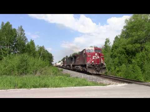 CN AND CP!!!!! CN Mixed Train and a CP Mixed Train @ Newtonville ON Canada 31MAY17