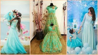 Mom And Daughter Matching Dresses || Matching Indian Outfits For Mom And Daughter