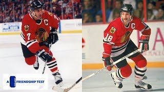 Chris Chelios And Denis Savard Test Their Friendship | Chicago Blackhawks