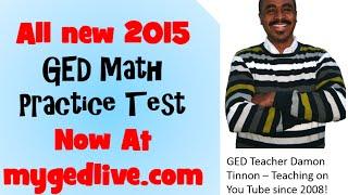 2015 New GED Practice Math Test