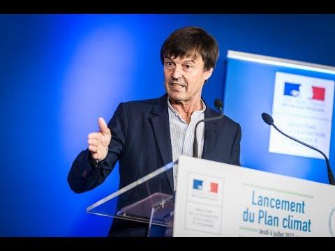 Nicolas Hulot présente le plan climat de la France