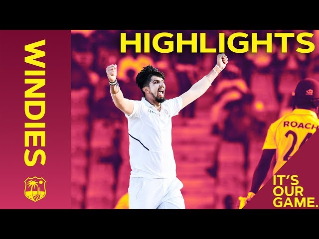 Holder Remains But Windies Rocked By Sharma 5-42   Windies vs India 1st Test Day 2 2019 - Highlights
