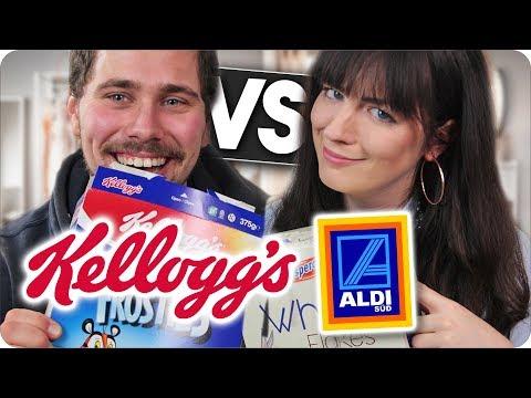 FAKE vs ORIGINAL mit MEINEM FREUND l Cornflakes im Test l KELLOGS VS ALDI