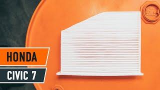 Reemplazar Filtro antipolen HONDA CIVIC: manual de taller