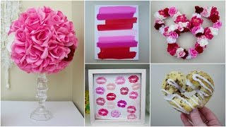 SIX CHEAP & EASY DIY VALENTINES DAY CRAFTS | PINTEREST INSPIRED | 2017