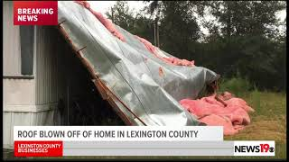 Roof blown off home by Tropical Storm Florence