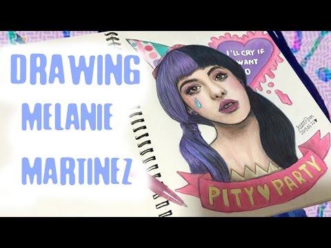 ♡DRAWING MELANIE MARTINEZ -PITY PARTY BY ZITA PUN - YouTube