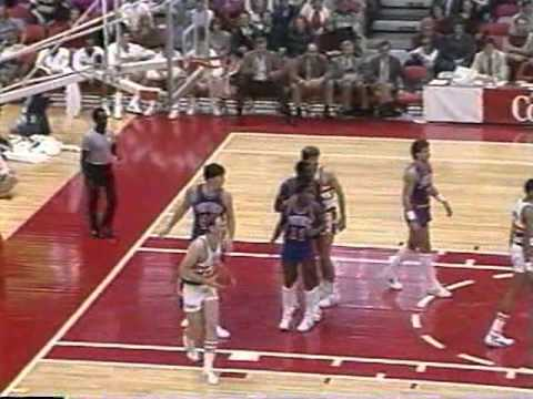 Alex English (47pts/12rebs/6asts) vs. Pistons (1983)